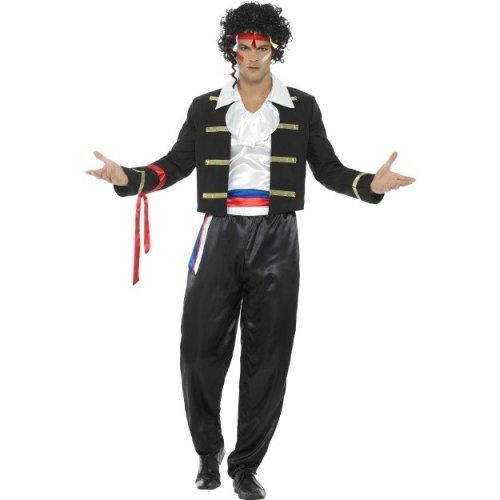 Smiffyu0027s 44751l 80u0027s New Romantic Costume (large) - mens costume new romantic fancy dress adam 1980s pop star prince adult singer outfit charming  sc 1 st  OnBuy & Smiffyu0027s 44751l 80u0027s New Romantic Costume (large) - mens costume new ...