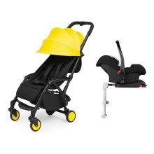 Ickle Bubba Aurora Travel System & Isofix Base - Sunshine Yellow