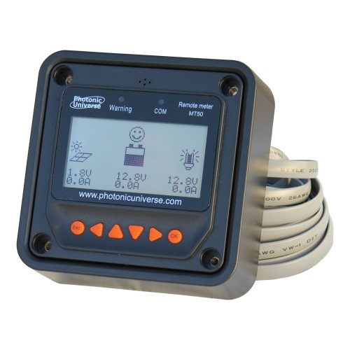 Remote meter/display MT50 with 5m cable for 10A-40A MPPT solar charge controllers Tracer A, TR and PTR series, and 10A-60A PWM solar charge...