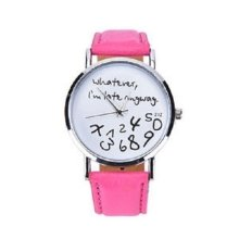 Hot Pink 'Whatever I'm Late Anyway' Ladies  Fashion Watch