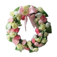 Artificial Wreath Hanging Floral Garland Door Wreath Wedding Decor #12