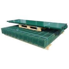 vidaXL 2D Garden Fence Panels & Posts 2008x1230 mm 46 m Green