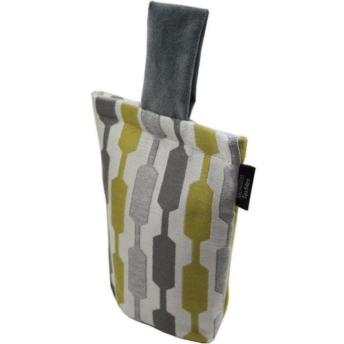 McAlister Textiles Lotta Yellow + Grey Door Stop
