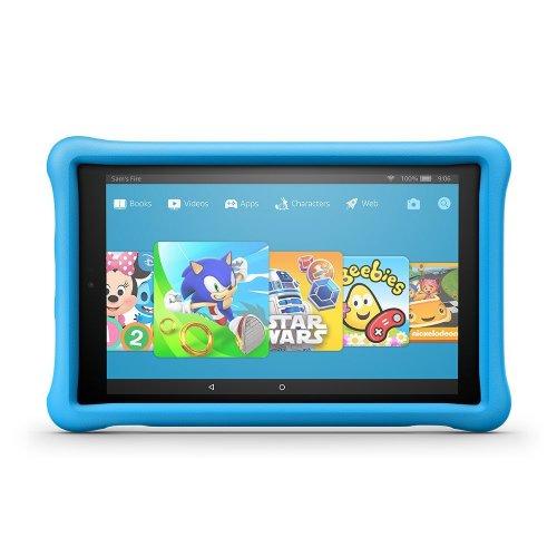 """Fire HD 10 Kids Tablet, 10.1"""" 1080p Full HD Display, 32 GB, Blue Kid-Proof Case"""