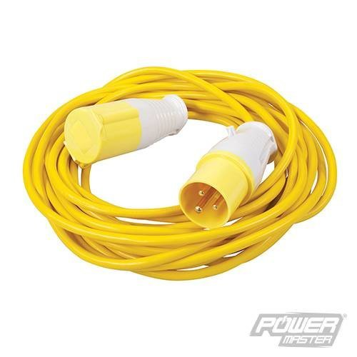 Pmaster Extension Lead 16a 110v 10m 3 Pin -  extension lead 16a 110v 10m silverline 3 pin 475654