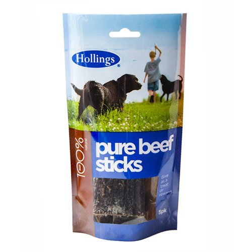 Hollings  Beef Sticks For Dogs 5 Pack x 15
