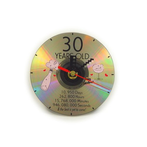 CD Clock 30th Years Old