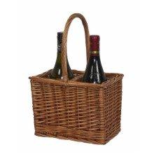 Double Steamed 2 Bottle Drinks Basket