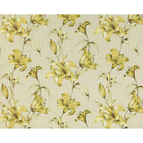 EDEM 978-32 floral non-woven wallpaper lily flower green apple-green   10.65 sqm