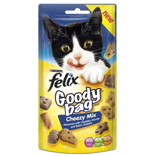 Felix Goody Bag Cheezy Mix 60g (Pack of 8)
