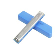 Blue,24 Holes Harmonica In C For Beginners/Musical Instrument