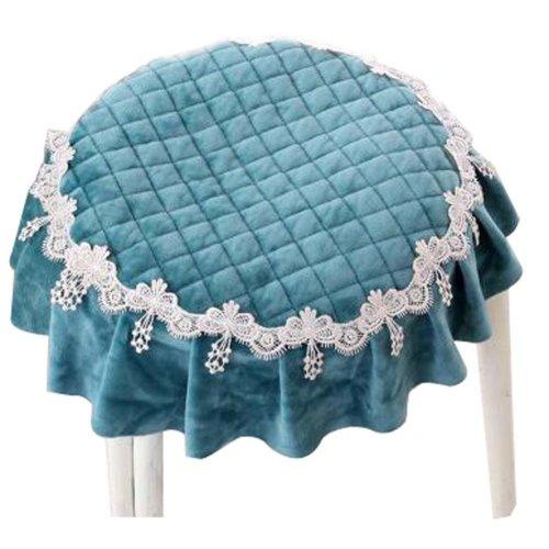 Cloth Round Slip Chair Stool Pad Stool Seat Dining Chair Cushion Green