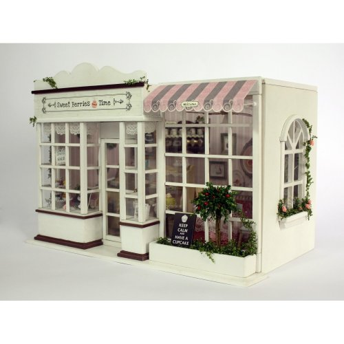 DIY Wooden Dolls House Handcraft Miniature Kit-Sweet Candy Room Model with All furniture,English instruction