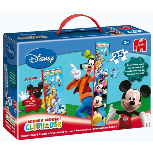 Disney Mickey Mouse Clubhouse 25 Piece Giant Height Chart Jigsaw Puzzle