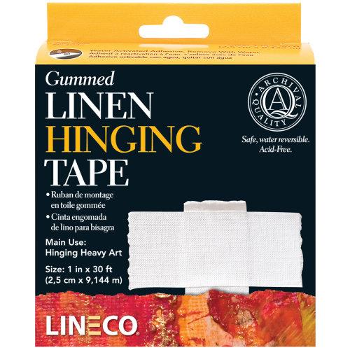 "Lineco Gummed Linen Hinging Tape-1""X30'"