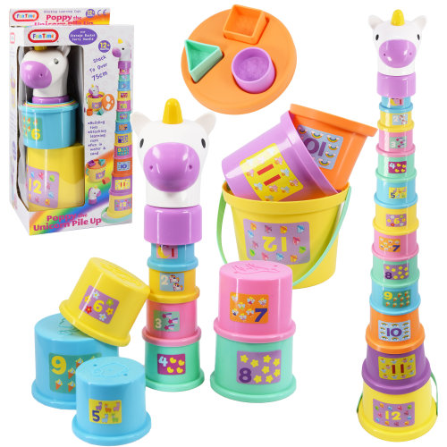 Poppy The Unicorn Stacking Nesting Cup Blocks & Buckets