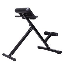 Homcom Hyper Extension Machine Fitness Bench Steel Adjustable Back Extension Bench- 45 Degrees
