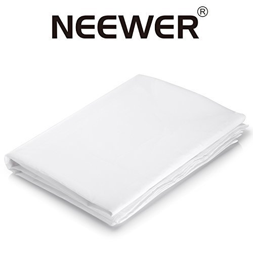 Neewer 20x5 feet6x1 5 Meters Nylon Silk White Seamless Diffusion Fabric for Photography Softbox Light Tent and DIY Lighting Modifier