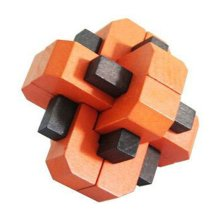 Challenging Wood Brain Teaser Puzzle Disentanglement Puzzles, Style 4