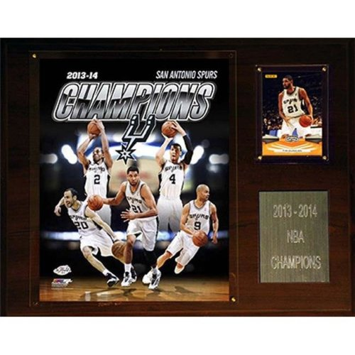 CandICollectables 1215NBA14 NBA 12 x 15 in  San Antonio Spurs 2013-2014 NBA  Champions Plaque
