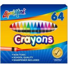 Liqui-Mark Crayons 64/Pkg-