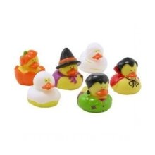 Halloween Themed Rubber Ducks (set of 6) - Bath or Pool Toys