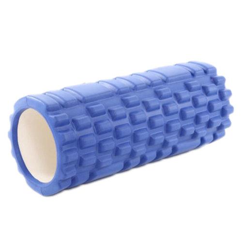 Yoga Foam Roller Wheel Yoga Massage Stick Muscle Relaxation Fitness Exercise 33 CM * 14 CM-Blue