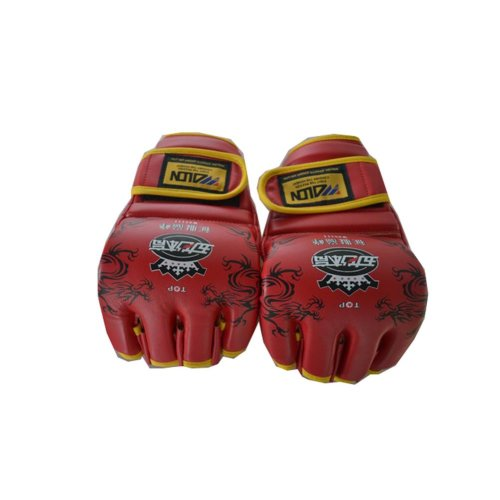 Pro Mixed Material Art Gloves Fight Gloves Red