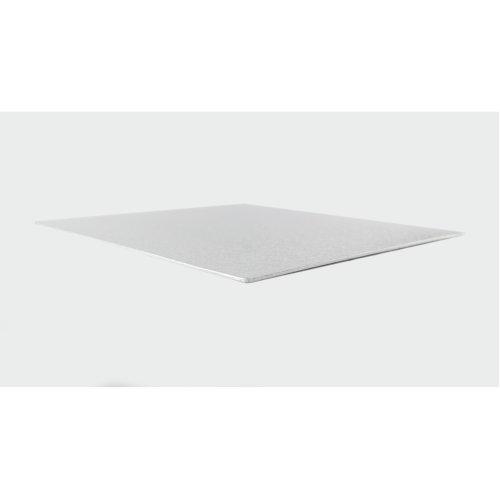 "5"" Thin Silver Square Cake Board 3mm Thick"