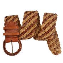 Women Fashion Wave Belt Dress Decorative Belt [Camel]