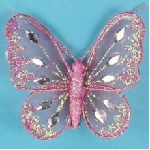 Artificial Mesh Glittered Butterflies