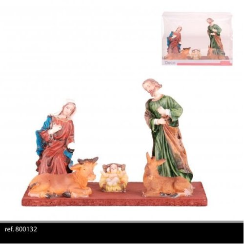 5Pc Christmas Nativity Figures