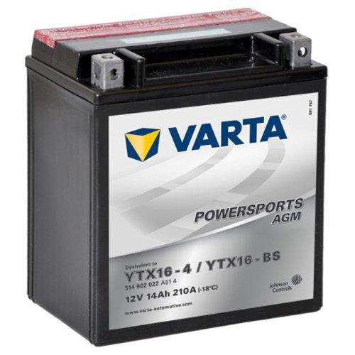Varta AGM Battery 12V 14Ah YTX16-4 / YTX16-BS Anti-leak Motorcycle Batteries
