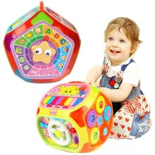 Multi Functional Early Education Learning Play House Activity Cube