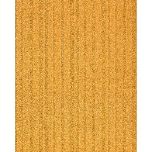 EDEM 1015-11 Fashion style design plain wallpaper textured stripes gold yellow
