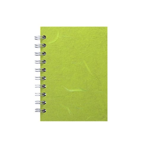 Pink Pig A6 Portrait, Lime Green - Notebook Lined Paper 70 Leaves