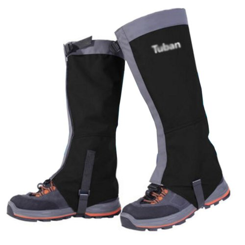 Hiking/Climbing/Camping/Skiing Upgraded Shoes Gaiter For Adult- Black