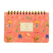 Lovely Coil Schedule Book Weekly Planner Plan Notebook Pink