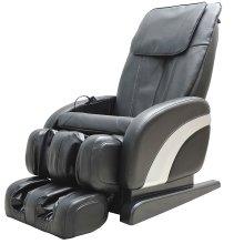 Homcom Luxury Reclining Leather Massage Chair Heat Armchair Multifunctional Full Body Black