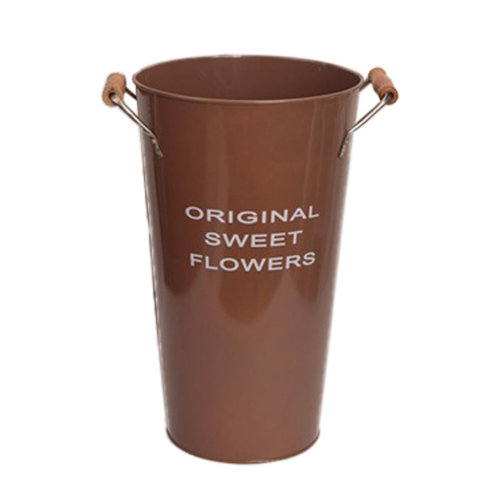 Pastoral Flower Vase/ Rustic Metal Small Tin Blucket Vases/ Best Gift  K