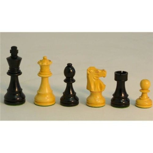 Chopra 37BF-1001BF375 Boxwood French Knight Chess Piece, Black & Natural