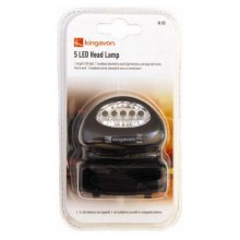 5 LED Head Lamp With Removable Headband - Torch Kingavon Camping Bbhl152 5 -  head lamp torch led kingavon camping 5 bbhl152 5led light fishing