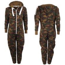 Kids' Hooded Camouflage Pyjama Jumpsuit