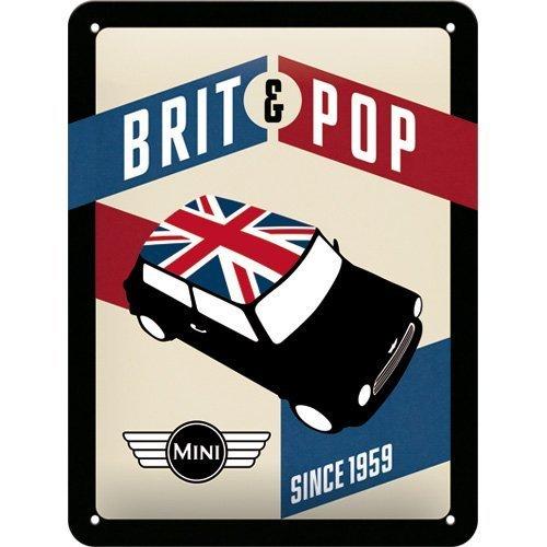 Nostalgic Art 26186 Mini-Brit Pop Metal Sign 15 x 20 CM