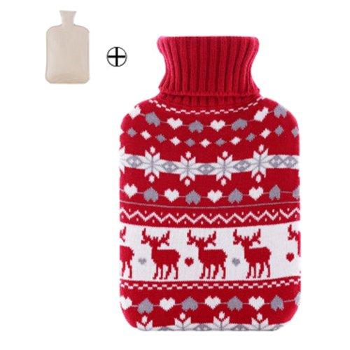 Hot Sale Living Goods Hot Water Bottle Novelty Hot Water Bag 32*20cm Red