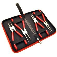 "4pc professional 7"" circlip plier / pliers set in a carry case by BERGEN AT336"