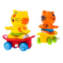 Set of 2 Cute Animals Wind-up Toy for Baby/Toddler/kids, Tiger(Color Random)