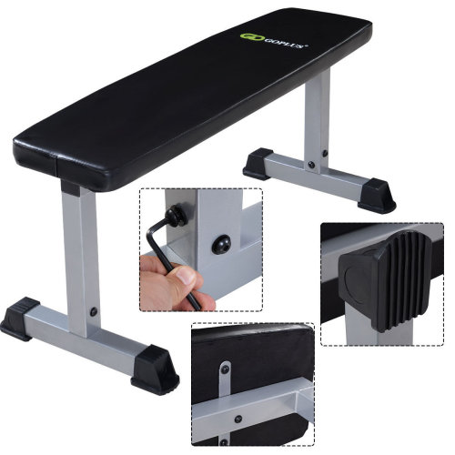 Flat Gym Weight Bench Press Barbell Dumbbell Lifting