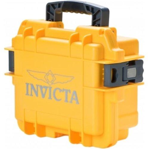 Invicta DC3YEL 3 Slot Watch Case, Yellow