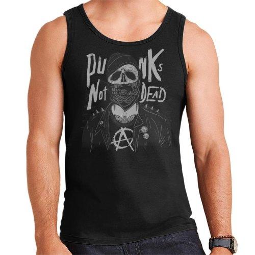 Punk Skull With Balaclava Men's Vest